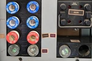 outdated fuse boxes